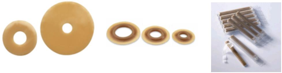 Iléostomie protecteurs cutanés anneaux et barrettes